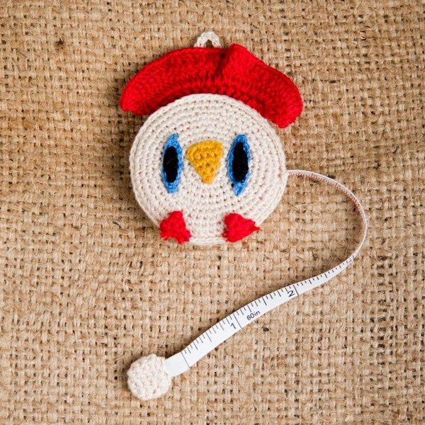 Crocheted Chicken Tape Measure