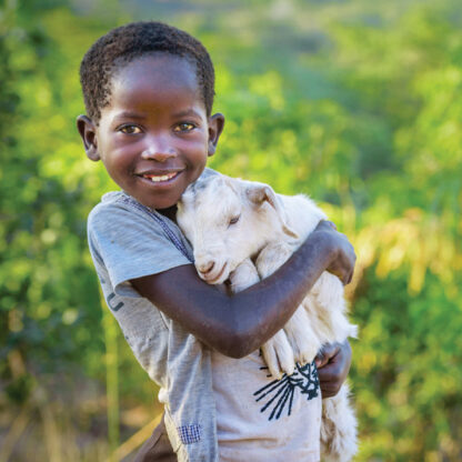 Child with Goat